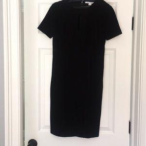 Diane von Furstenberg black viscose cocktail dress